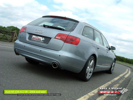 Milltek Resonated Cat-Back Exhaust System (Quieter) for Audi C6 S6 5.2L V10 FSI Quattro