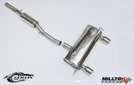 Milltek Resonated (Quieter) Cat-Back Exhaust System w/ GT100 Tips for Audi TT MK1 180/225HP Quattro Coupe & Roadster