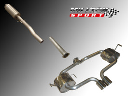 Milltek Resonated Cat-Back Exhaust System for Cooper 1.6L Convertible (R52)