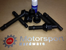 Motorsports Hardware 75MM Stud Conversion kit with silver Lugs 12x1.50MM