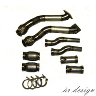 AR Design C5 A6 Hi-Flo Downpipes - RS6 Flanges