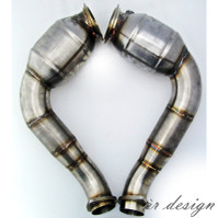 """AR Design 3"""" Downpipes w/ 5"""" Race Cats (2008-3/2011"""