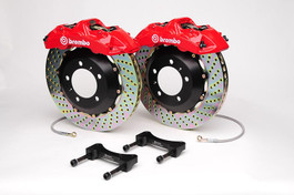 Brembo Front 4 Piston Calipers with 323x28 1-Piece Drilled Rotors