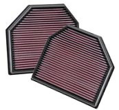 K&N Drop-In Air Filter for 2011+ BMW M5 / M6 (2 Filters)