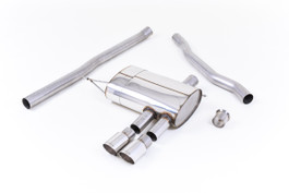 Milltek Sport Non-Resonated Cat-Back Exhaust System, Polished Tips for F56 MINI Cooper S (U.S. Spec) (SSXM411)