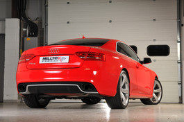 Milltek Sport Cat-Back Exhaust System w/ Non-Resonated Downpipes & Resonated Center for Audi RS5