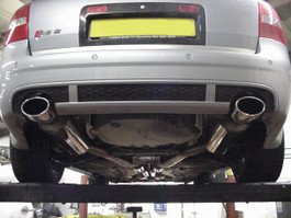 Milltek Resonated (Quieter) Cat-Back Exhaust System w/ Polished Oval Tips for Audi RS6 V8 Bi-Turbo