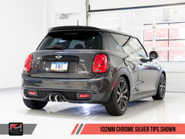AWE Tuning Track Edition Cat-Back Exhaust System (Non-Resonated w/ Chrome Silver Tips) for MINI F56 Cooper S / JCW 2.0L Turbo