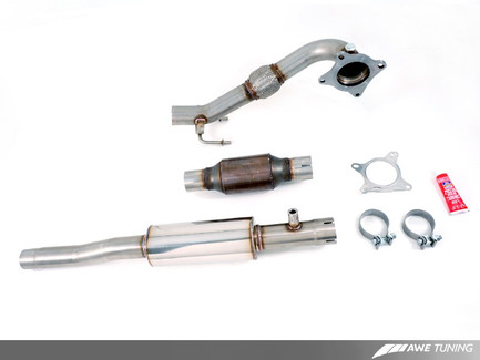 AWE Tuning Performance Downpipe w/ Metal Cat for FWD 8P Audi A3 & VW MK5/MK6 2.0T FSI/TSI (3215-11022)