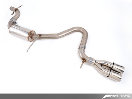 a3 8p awe tuning performance resonated cat back exhaust system for rh etektuning com Audi A3 Exhaust Tips Audi A3 Exhaust System