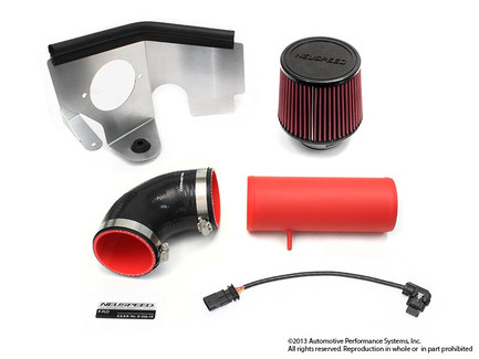 NEUSPEED P-FLO AIR INTAKE FOR 2012-14 VW PASSAT 2.0L TDI CKRA, Red Pipe Dry Filter (65.10.84RD)