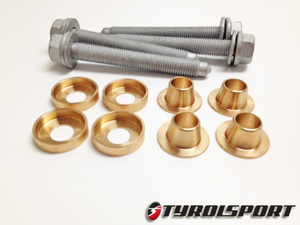 TyrolSport Rear Deadset Subframe Collars Kit for Audi A3(8P), VW MKV / MKVI Golf & Jetta, FWD (TSDSKRVW)