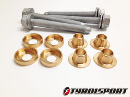 TyrolSport Rear Deadset Subframe Collars Kit for Audi A3(8P), VW MKV R32 / MKVI Golf R, AWD (TSDSKRVWR)