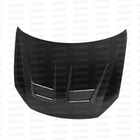 Seibon DV-style Carbon Fiber Hood for 2010-2014 VW Golf / GTI MKVI, Shaved (HD1011VWGTIB-DV)