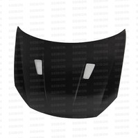 Seibon TM-style Carbon Fiber Hood for 2010-2014 VW Golf / GTI MKVI, Shaved (HD1011VWGTIB-TM)