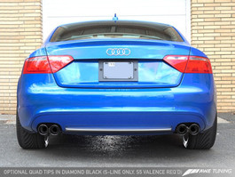 AWE Tuning Touring Edition Exhaust for Audi A5 B8 2.0T - Quad Outlet, Diamond Black Tips (3015-43024)