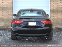 AWE Tuning A5 2.0T Touring Edition Exhaust for Audi A5 B8 2.0T - Dual Outlet, Diamond Black Tips (3015-33026)