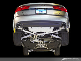 AWE Tuning Touring Edition Exhaust for Audi C7 A6 3.0T - Dual Outlet, Diamond Black Tips (3015-33052)