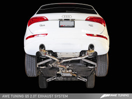 AWE Tuning Touring Edition Exhaust for Audi Q5 2.0T - Polished Silver Tips