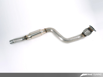 Actual part may differ from photo. AWE Tuning Resonated Downpipe for Audi Q5 2.0T (3215-11040)