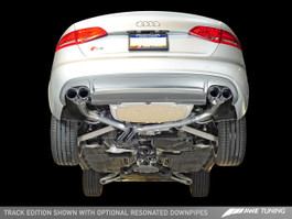 AWE Tuning Track Edition Exhaust for Audi S4 B8.5 3.0T - Chrome Silver Tips (102mm)