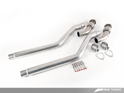 AWE Tuning Non-Resonated Downpipes for Audi 3.0T (3220-11010)