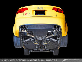 AWE Tuning Touring Edition Exhaust for Audi B7 RS4 4.2L - Diamond Black Tips