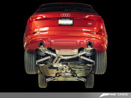 AWE Tuning Non-Resonated Exhaust System (Downpipe-Back) for 2009-2012 Audi Q5 3.2L - Diamond Black Tips
