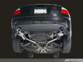 AWE Tuning Track Edition Exhaust for Audi B6 A4 3.0L - Diamond Black Tips