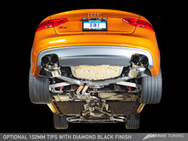AWE Tuning Touring Edition Exhaust System for 2013+ Audi S5 3.0T - Diamond Black Tips (90mm) (3015-43030)