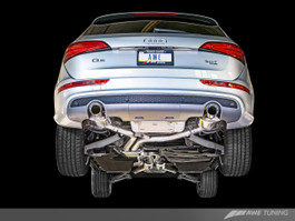 AWE Tuning Touring Edition Exhaust - Dual Outlet, Diamond Black Tips for 2013-2016 Audi Q5 3.0T