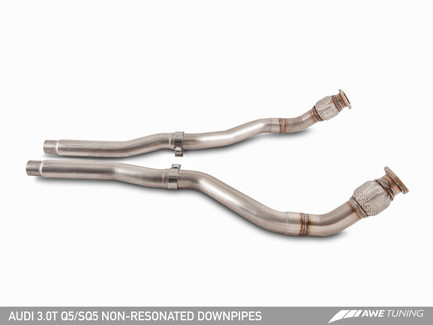 AWE Tuning Non-Resonated Downpipes for 2013-2016 Audi Q5 / SQ5 3.0T