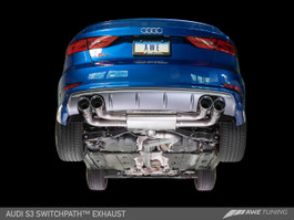AWE Tuning SwitchPath Exhaust with Chrome Silver Tips, 90mm for Audi S3 8V