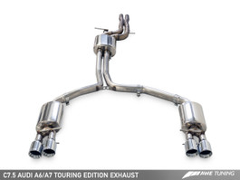 AWE Tuning Touring Edition Exhaust - Quad Outlet, Diamond Black Tips for 2016 Audi A6 3.0T