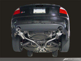 AWE Tuning Touring Edition Exhaust - Diamond Black Tips for 2004-2005 Audi S4 4.2L (3015-33016)