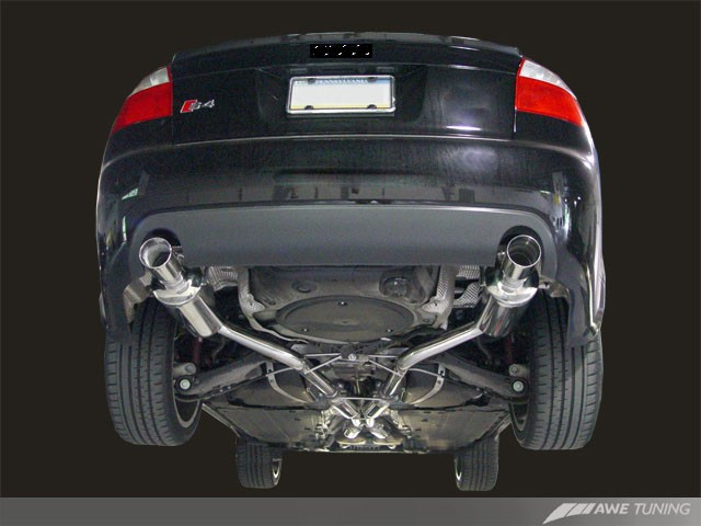 AWE Tuning Track Edition Exhaust - Polished Silver Tips for 2004-2005 Audi  S4 4 2L