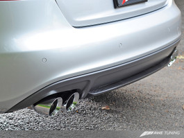 AWE Tuning Touring Edition Exhaust System - Quad 90mm (3.54 in) Slash Cut Polished Silver Tips for 2009 Audi A4 3.2L