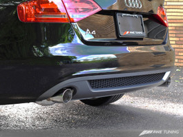 AWE Tuning Touring Edition Exhaust System - Dual Outlet 88.9mm (3.5in) Round Diamond Black Tips for 2009 Audi A4 3.2L
