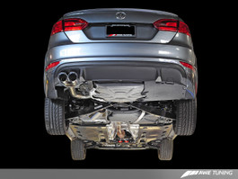 AWE Tuning Touring Edition Exhaust for MK6 GLI 2.0T & MK6 Jetta 1.8T with Diamond Black Tips (3015-23050)