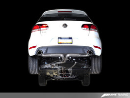 AWE Tuning Performance Cat-Back Exhaust, Diamond Black Tips for VW Mk6 GTI