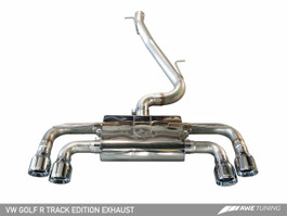 AWE Tuning Track Edition Exhaust with Chrome Silver Tips, 102mm for Mk7 VW Golf R