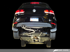 AWE Tuning Performance Exhaust, Polished Silver Tips for Mk6 VW Golf TDI 2.0L FWD