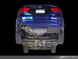 AWE Tuning Touring Edition Exhaust - Diamond Black Tips for Mk6 VW Jetta TDI
