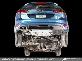 AWE Tuning Touring Edition Exhaust - Chrome Silver Tips (90mm) for VW Mk7 Golf SportWagen