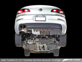 AWE Tuning Touring Edition Performance Exhaust - Chrome Silver Tips for VW CC 2.0T