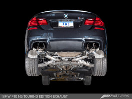 AWE Tuning Touring Edition Axle Back Exhaust, Chrome Silver Tips for BMW F10 M5
