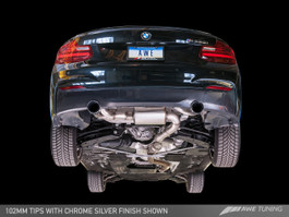 AWE Tuning Touring Edition Axle Back Exhaust, Chrome Silver Tips (102mm) for 2014-16 BMW M235i F22 3.0L Turbo