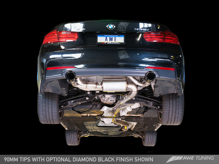 AWE Tuning Touring Edition Axle Back Exhaust, Chrome Silver Tips (90mm) for BMW F3x 335i/435i