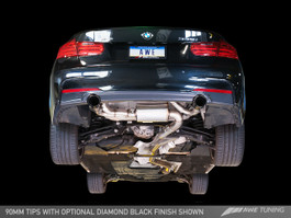 AWE Tuning Touring Edition Axle Back Exhaust, Diamond Black Tips (90mm) for BMW F3x 335i/435i