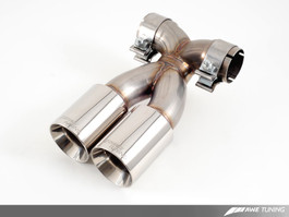AWE Tuning Polished Silver Optional Muffler Tip Set for  Porsche 987 Cayman/S, Boxster/S